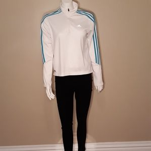 Adidas White/Blue Sweatshirt